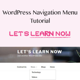 How to create and add Navigation Menu in WordPress