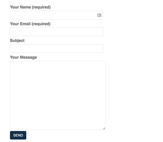 Contact Form 7 Styling 1
