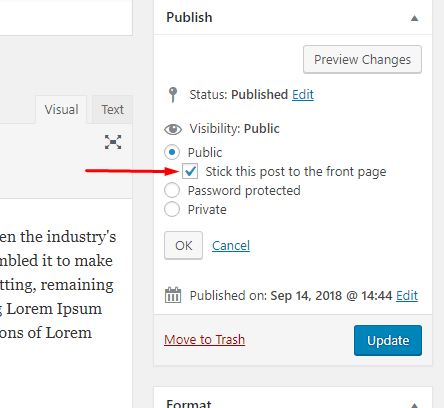 How to Make and Remove a Sticky Post in WordPress (2)