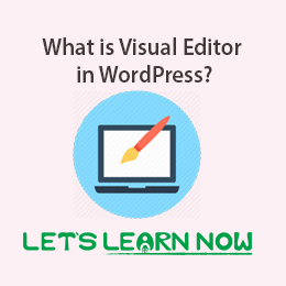 What is Visual Editor in WordPress
