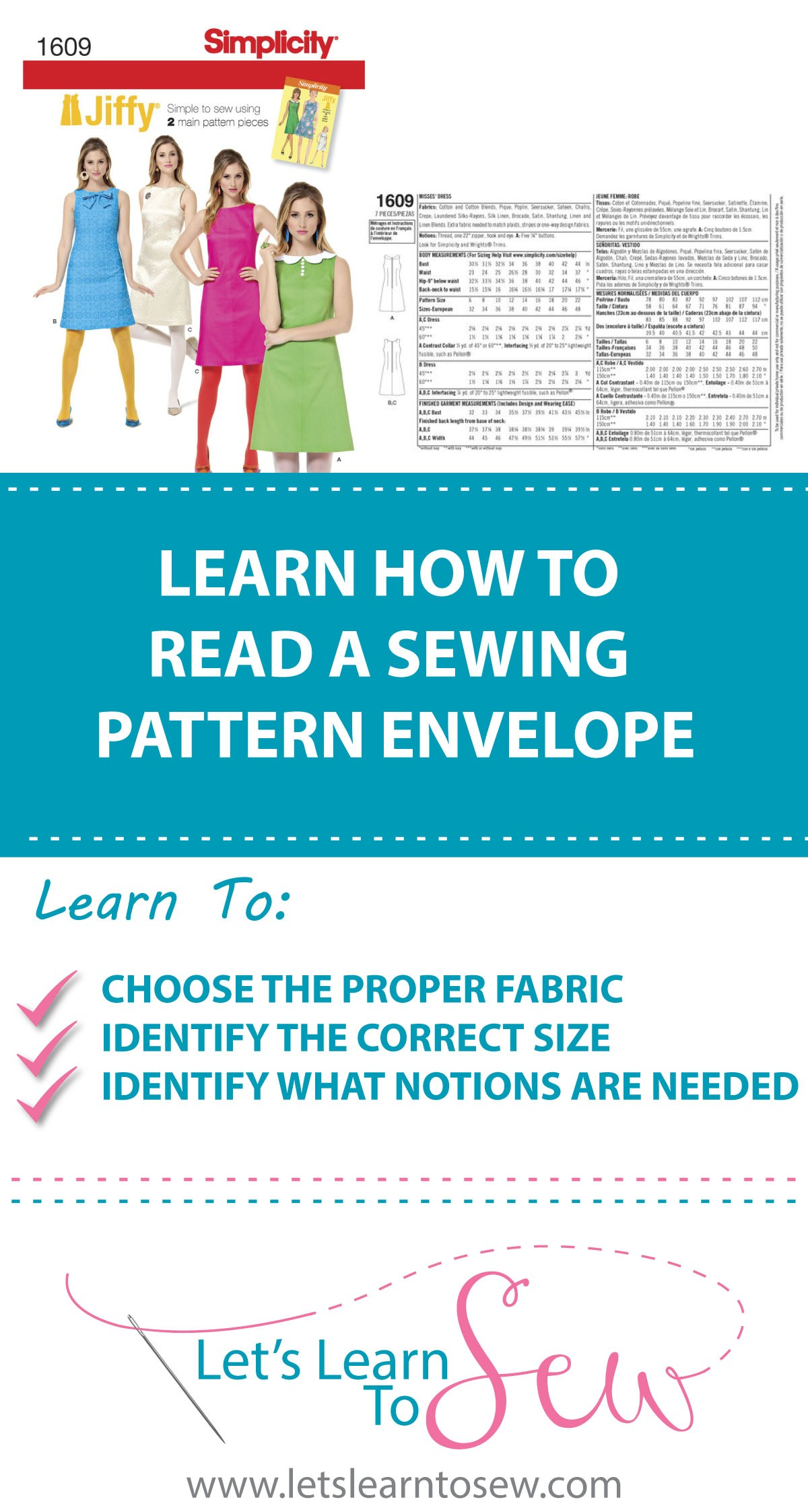How to read a sewing pattern envelope without becoming confused or ...