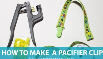 How to apply plastic snaps using snap pliers, it's easier