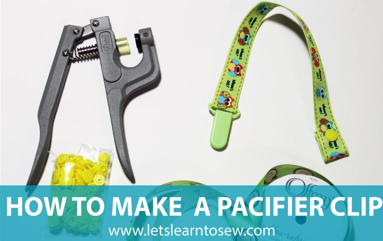 How to make a pacifier clip in less than 10 minutes