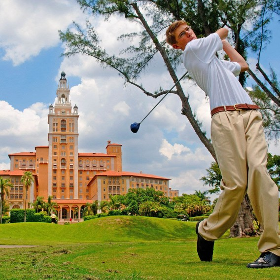 A7YXGB United States, Florida, Miami, Coral Gables District, golf at the Biltmore Hotel