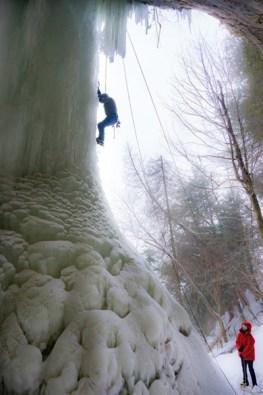 ice climbing side