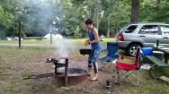 Cooking at Lake Macbride State Park, IA