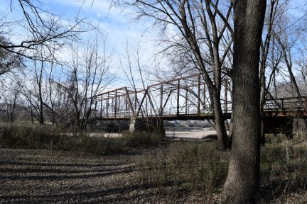 Here's one of the spans stretching across the Cedar River.