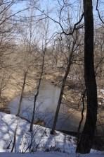 Scenic overlook of river at Wildcat Den Park