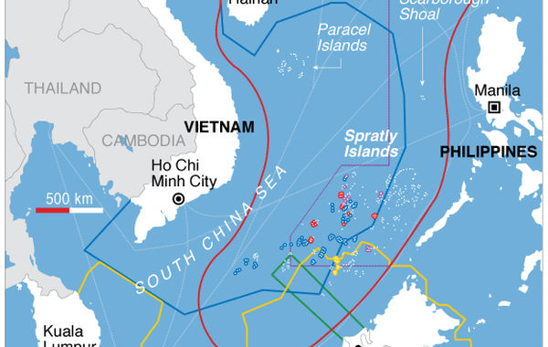 (圖片說明/南海勢力分布圖。)
