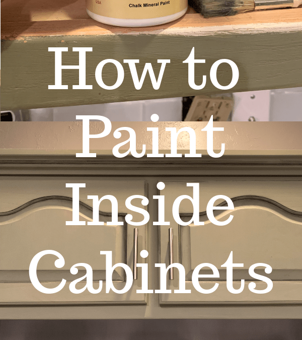 Painting Inside Kitchen Cabinets How to Paint Inside Kitchen Cabinets   Let's Paint Furniture!