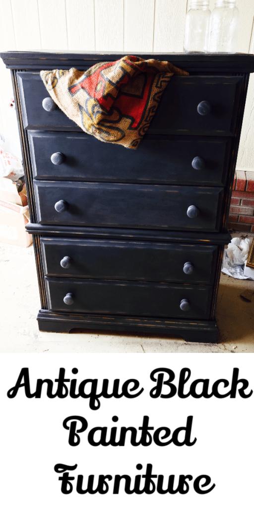 How to Antique Black Paint Furniture - Let\'s Paint Furniture!