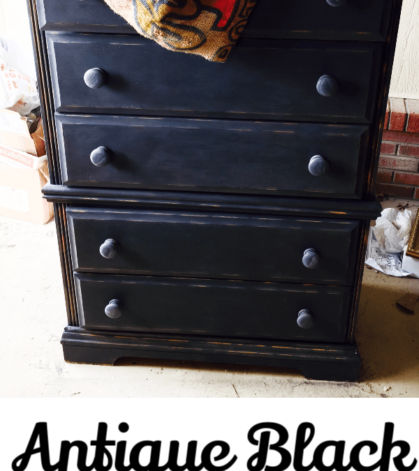 How To Antique Black Paint Furniture, How To Paint Over Black Wood Furniture