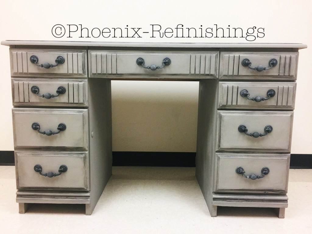 How To Paint Over A Laminate Furniture Desk Let S Paint Furniture