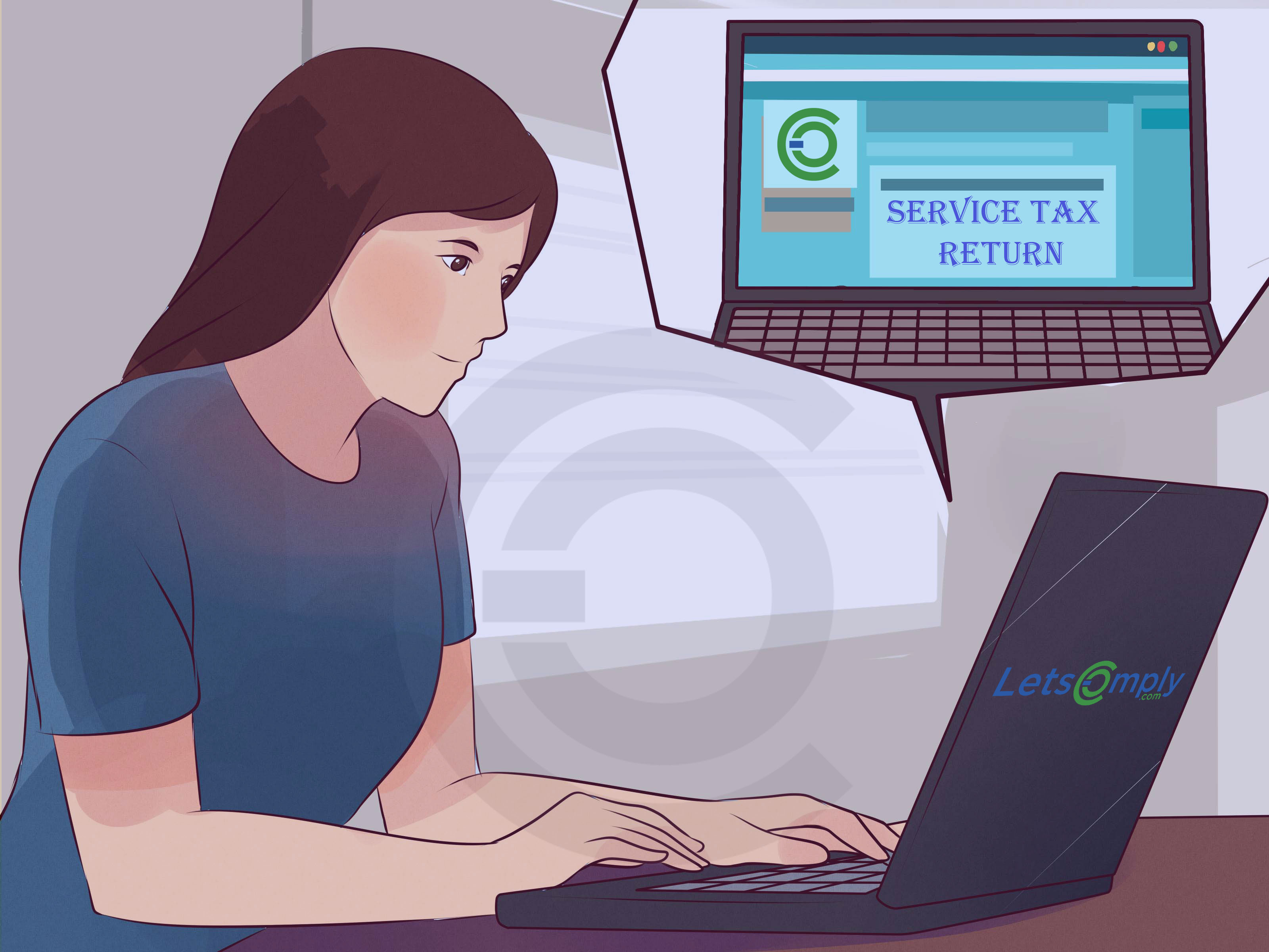 Steps for filing service tax return online