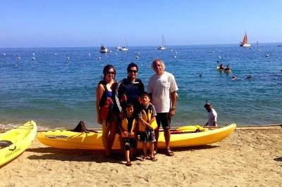 Instructor Scott at Descanso Beach Ocean Sports on Catalina Island