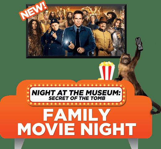 Night at the Museum Family Movie Night