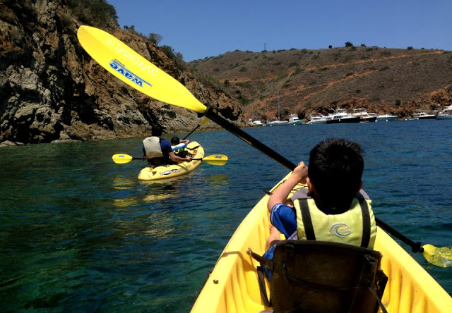 Kayaking in Two Harbors, Catalina Island