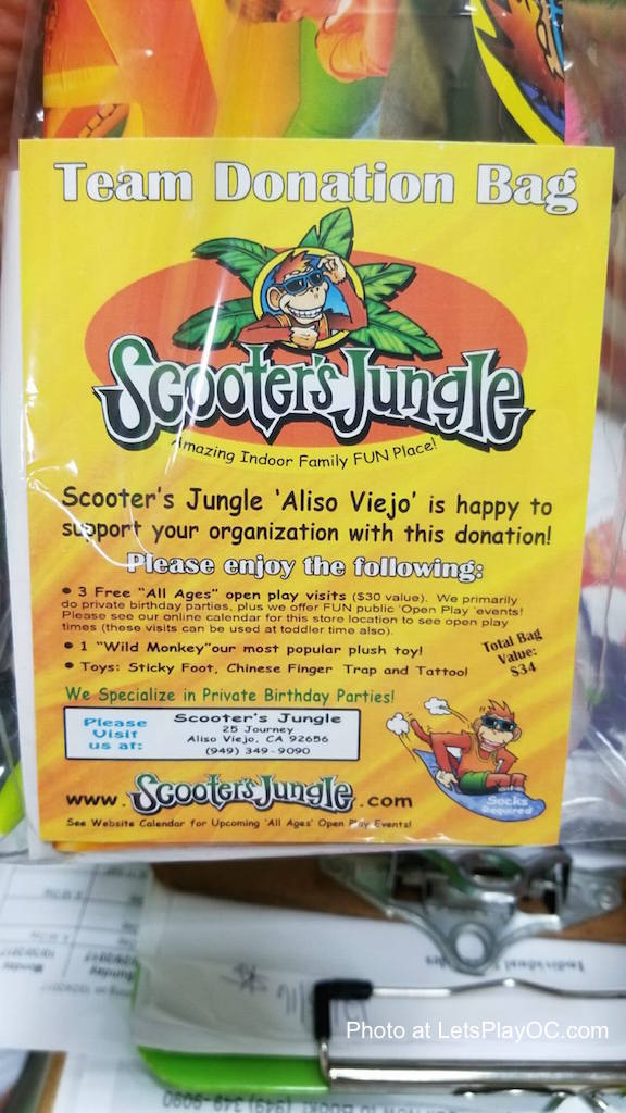 Scooters Jungle Team Donation Bag Aliso Viejo