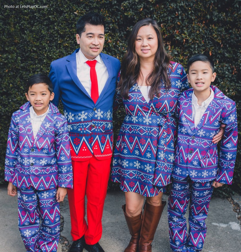 Shinesty Matching Family Holiday Outfits in Navy Nordic Pattern