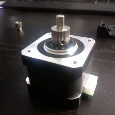 Extruder Gear Installed
