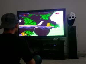 "SNES Classic on 60"" TV"