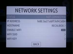 RecalBox Network Settings
