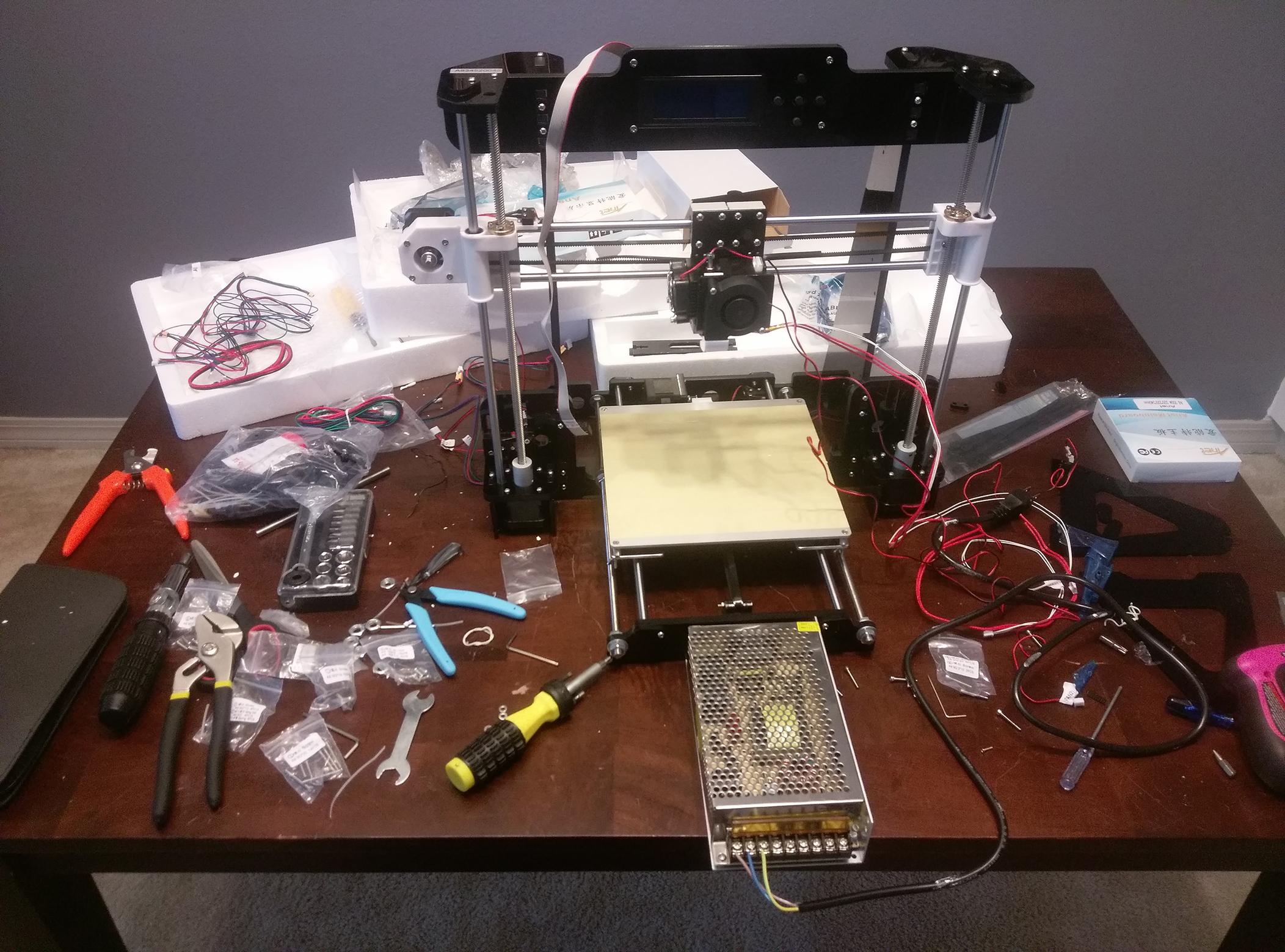 Anet A8 3D Printer Assembly