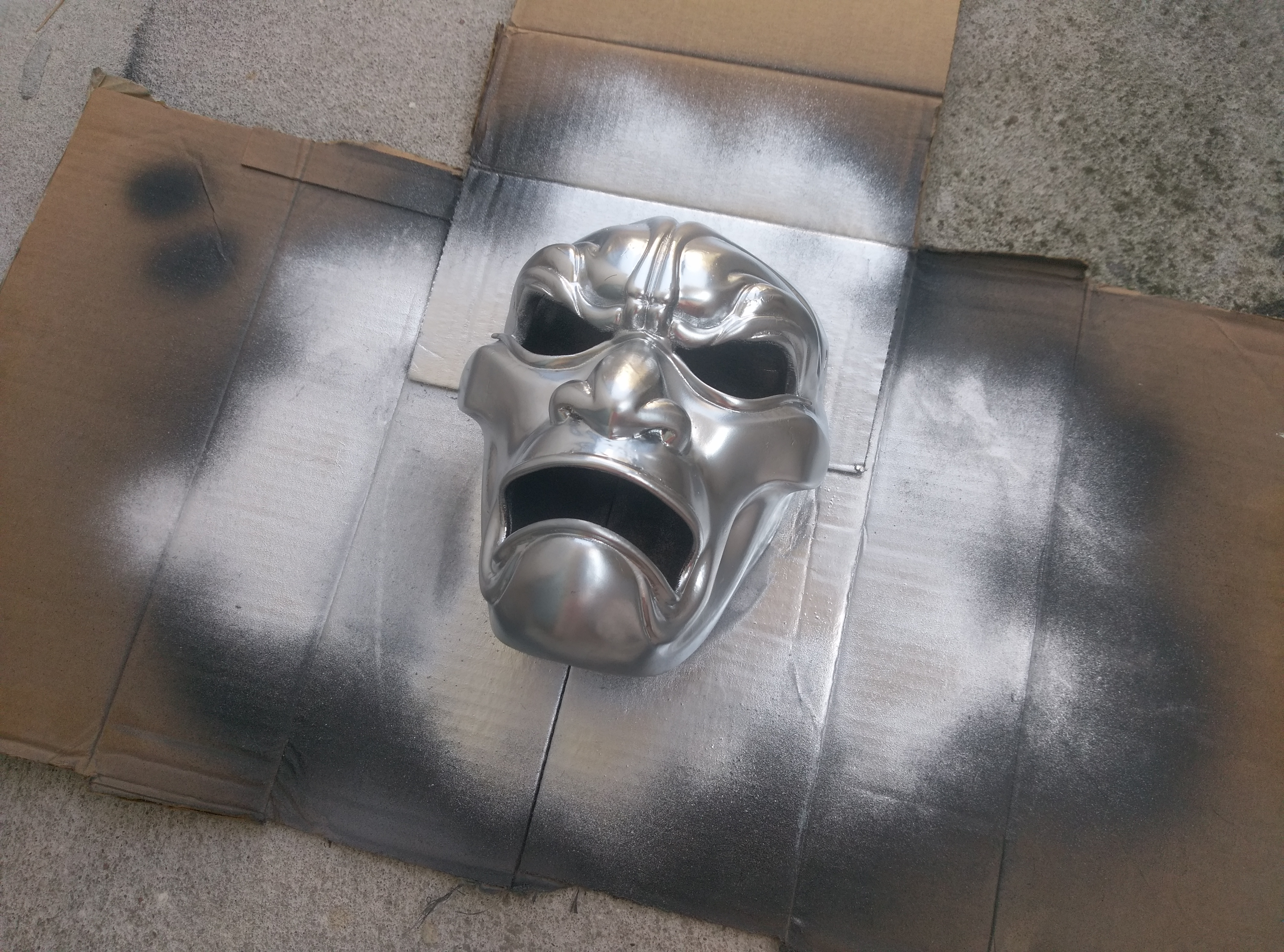 3D Printed Mask Painted
