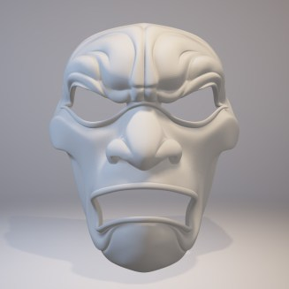 3D Printed Mask Render Front