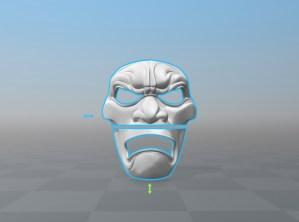 3D Printed Mask Render Sliced
