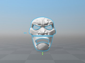 3D Printed Mask Render Sliced