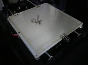 Heated Bed 3-Point Leveling Assembled