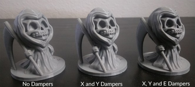 Stepper Motor Dampers Print Results