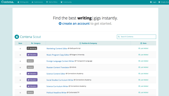 contena - service for freelancers to start writing business review tool of the week