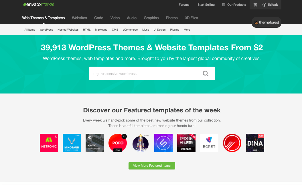 theme forest choose a wordpress theme