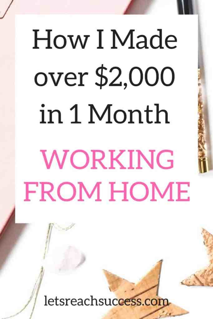 Welcome to my monthly income report where I share how I earn through my blog and online business together with the lessons, mistakes and new projects. Check out how i made over $2,000 blogging in one month working from home: #workfromhome #blogincome #incomereport