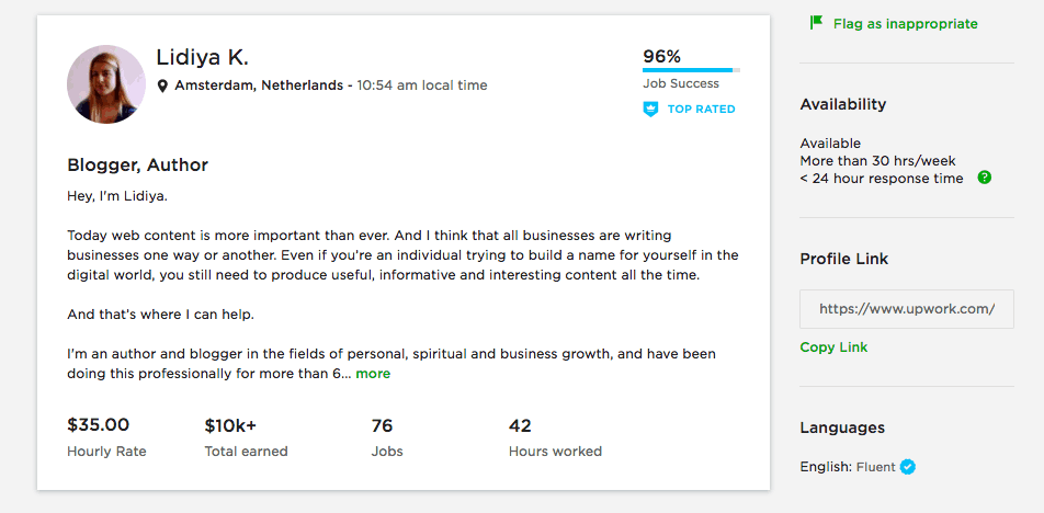 how to create a great profile on upwork