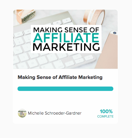 making sense of affiliate marketing completed course