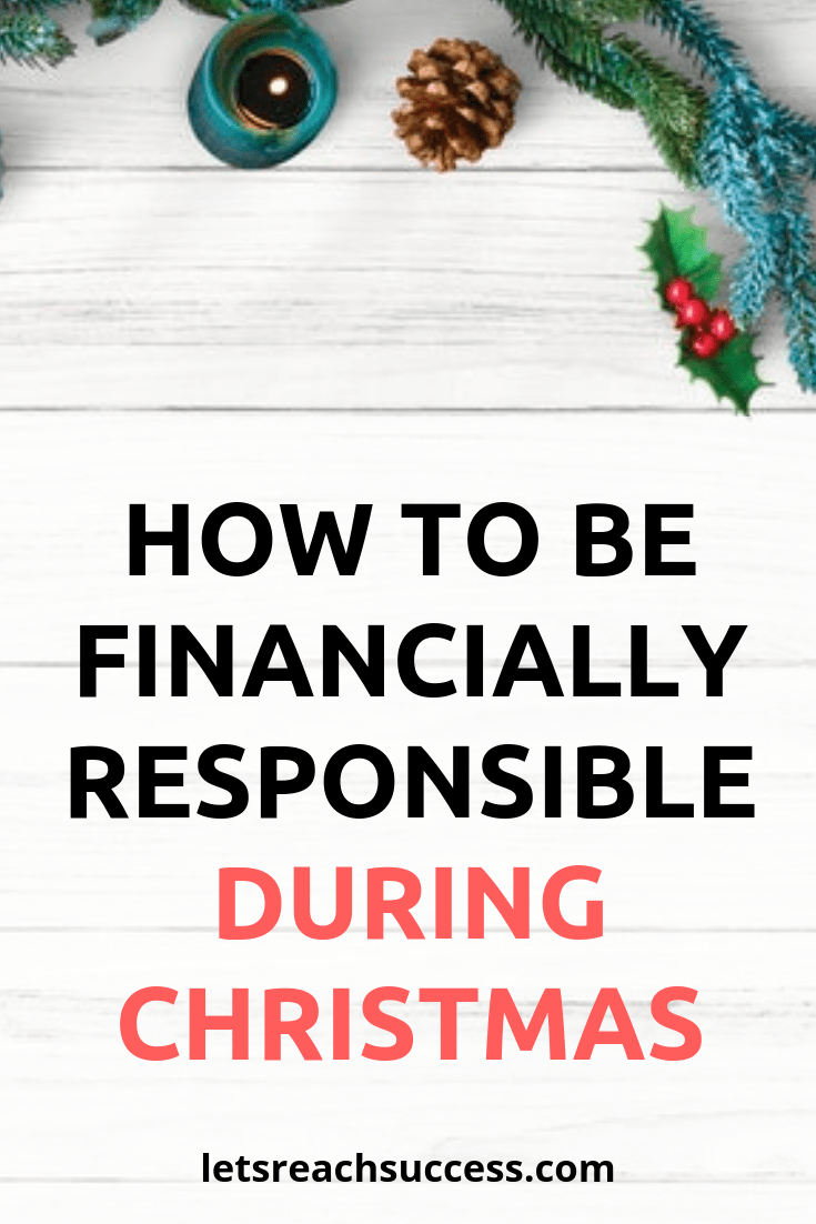 There are a number of things you can do to have a financially responsible yet still very Merry Christmas this year. Here are some tips: #christmasshopping #savemoney #christmasholidays #frugalchristmas