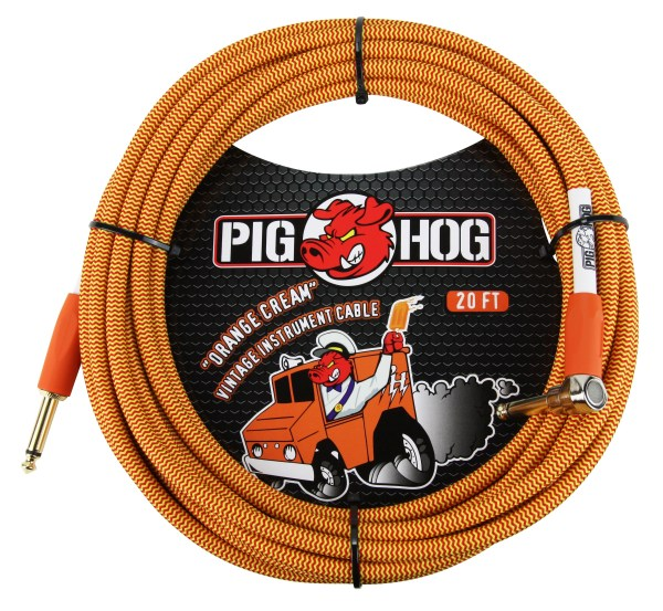 "Pig Hog Vintage Series Instrument Cables ""Orange Cream"""