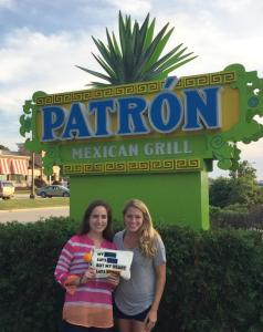 Me and Michelle at Patron for taco night!