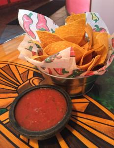 Chips and salsa before tacos