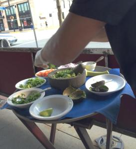 Guacamole made in front of you