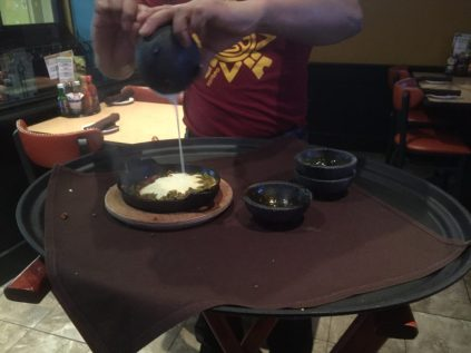 Choriqueso being made