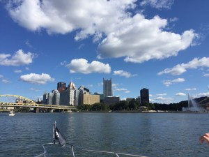 View of Pittsburgh from boat