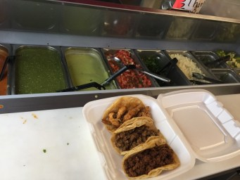 tacos and toppings