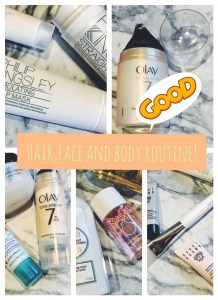 Hair, face and body routine