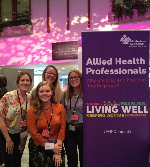 Volunteer Emily, PhD Student Niamh and OT inters Nicole and Beth 2017