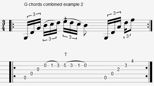 Chords in Open G Tuning - DGDGDBD - Open G Tuning Chords Charts