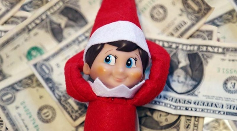 Christmas gift money elf